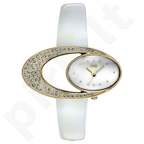 Moteriškas laikrodis Storm Twilight Leather Gold White