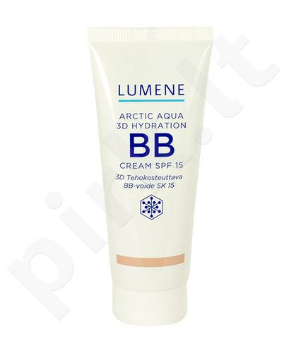 Lumene Arctic Aqua 3D Hydration BB kremas SPF15, kosmetika moterims, 40ml, (Light Medium)
