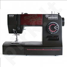 Toyota Sewing Machine SUPERJ26 Black, 26 stitch programme, 1-4 Buttonhole