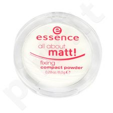 Essence All About Matt! Fixing kompaktinė pudra, kosmetika moterims, 8g