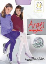Vienspalvės pėdkelnės mergaitėms 40 denų storio iš mikrofibros (dydžiai nuo 92 iki 158 cm)