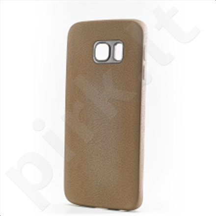 Celly Cover  LEGGERA for Samsung Galaxy S6 edge (Brown) / Eco-leather / 1.5mm thickness / Lightweight