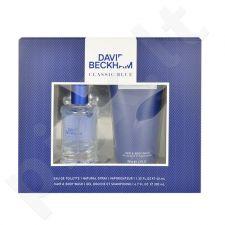 David Beckham Classic Blue rinkinys vyrams, (EDT 40ml + 200ml dušo želė)