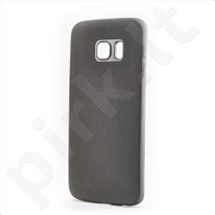 Celly Cover  LEGGERA for Samsung Galaxy S6 edge (Black) / Eco-leather / 1.5mm thickness / Lightweight