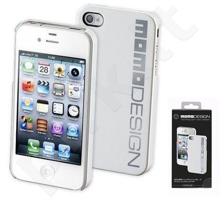 Apple iPhone 4 dėklas Momo baltas/sidabrinis
