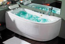 Masažinė vonia B1680 kairinė su oro ir hidromasažu 170cm