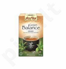 Žalia balansuojanti arbata YOGI TEA, 17 vnt