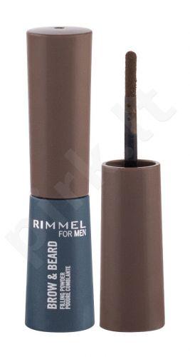 Rimmel London For Men, Brow & Beard, Eyebrow kompaktinė pudra vyrams, 0,7g, (002 Medium Brown)