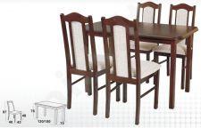 Stalas MAX IV + 4 kėdės BOSS XII