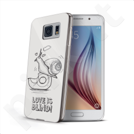 Celly Cover  LOVE IS BLIND for Samsung Galaxy S6 (Snail) / Hard cover with transparent edges