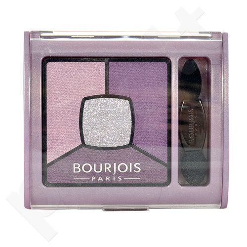 BOURJOIS Paris Smoky Stories Quad akių šešėliai Palette, kosmetika moterims, 3,2g, (09 Grey-zy In Love)