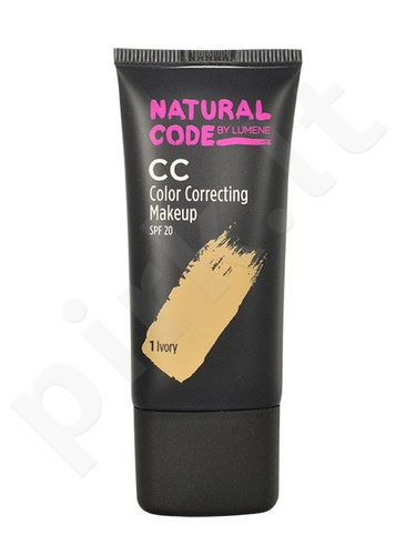 Lumene Natural Code CC Color Correcting Makeup SPF20, kosmetika moterims, 25ml, (1 Ivory)