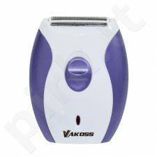 Elektrinis skustuvas moterims Vakoss PE-6031WU  | balta-violetinė