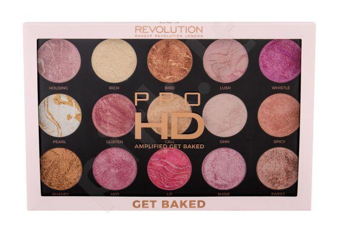 Makeup Revolution London Pro HD, Amplified Palette, skaistinanti priemonė moterims, 37,5g, (Get Baked)