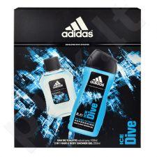Adidas Ice Dive, rinkinys tualetinis vanduo vyrams, (EDT 100ml + 250ml dušo želė)