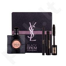Yves Saint Laurent Black Opium rinkinys moterims, (EDP 50ml + 2ml blakstienų tušas Volume Effet Faux Cils 1 + 0,8g akių kontūrų pieštukas atsparus vandeniui No.1)