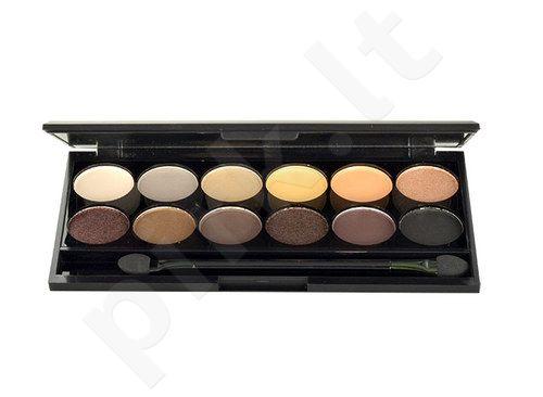 Sleek MakeUP I-Divine akių šešėliai Palette, kosmetika moterims, 13,2g, (Au Naturel)