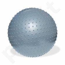 Gimnastikos kamuolys masažui Meteor 75 cm srebrna 31105