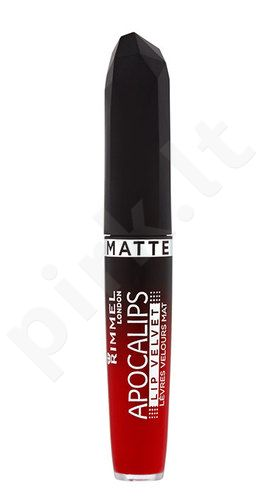 Rimmel London Apocalips Matte Lip Velvet Lacquer, kosmetika moterims, 5ml, (405 Orange-Ology)