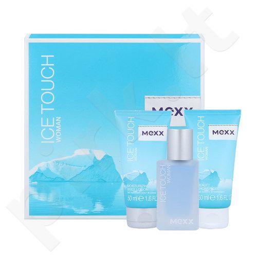 Mexx Ice Touch (2014) rinkinys moterims, (EDT 30ml + 50ml dušo želė + 50ml kūno losjonas)