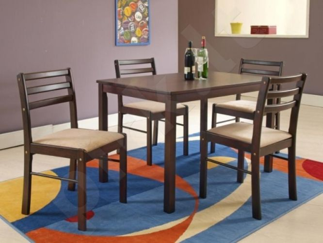 NEW STARTER komplektas: stalas + 4 kėdės