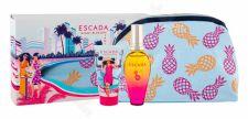 ESCADA Miami Blossom, rinkinys tualetinis vanduo moterims, (EDT 50 ml + kūno losjonas 50 ml + kosmetika krepšys)