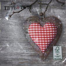 Servetėlės Tat Bn Christmas Heart