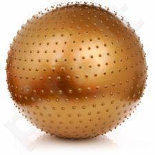 Gimnastikos kamuolys masažui Meteor 65 cm złota 31104