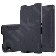 Sony Xperia M4 Aqua Sparkle dėklas Nillkin juodas