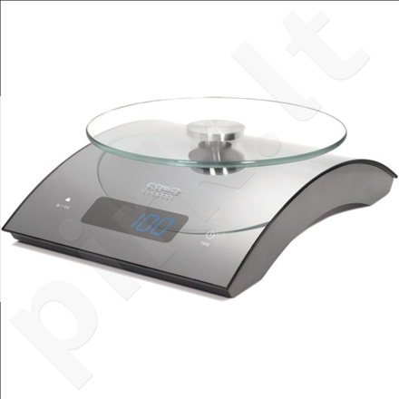 Caso C5 Kitchen Scales, up to 5kg, Large digital display, Stainless steel