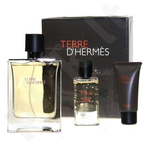 Hermes Terre D Hermes Parfum rinkinys vyrams, (parfum 75ml + 40ml dušo želė + 15ml losjonas po skutimosi)