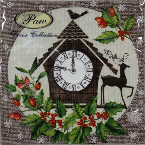 Servetėlės Christmas Clock
