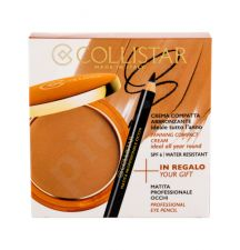 Collistar Tanning Compact Cream, rinkinys kompaktinė pudra moterims, (kremas kompaktinė pudra 9 g + akių kontūrų priemonė 0,80 g), (2 Bahamas)