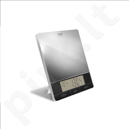 Caso I10 Kitchen Scales, Mirrored surface, up to 10 kg, Air-condition indicator, Exclusive touch handling, Tare function