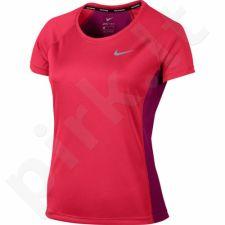 Marškinėliai bėgimui  Nike Dry Miler Top Crew W 831530-617