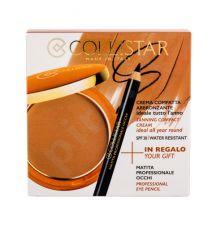 Collistar Tanning Compact Cream, rinkinys kompaktinė pudra moterims, (kremas kompaktinė pudra 9 g + akių kontūrų priemonė 0,80 g), (5 Seychelles)