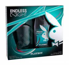 Playboy Endless Night, rinkinys tualetinis vanduo vyrams, (EDT 100 ml + dušo želė 250 ml)