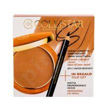 Collistar Tanning Compact Cream, rinkinys kompaktinė pudra moterims, (kremas kompaktinė pudra 9 g + akių kontūrų priemonė 0,80 g), (4 Caribbean)