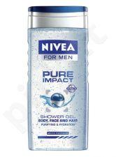 Nivea Men Pure Impact dušo želė, kosmetika vyrams, 250ml