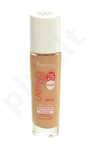Rimmel London Lasting Finish 25h kreminė pudra, kosmetika moterims, 30ml, (303 True Nude)
