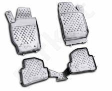 Guminiai kilimėliai 3D SKODA Fabia 2007-2014, 4 pcs. /L57005G /gray