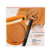 Collistar Tanning Compact Cream, rinkinys kompaktinė pudra moterims, (kremas kompaktinė pudra 9 g + akių kontūrų priemonė 0,80 g), (3 Mauritius)