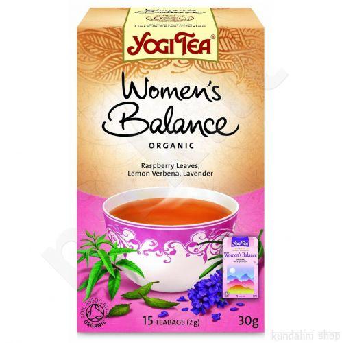 Balansuojanti arbata moterims YOGI TEA, 17 vnt