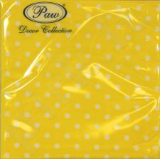 Servetėlės Dots Intense Yellow