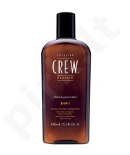 American Crew 3-IN-1 Shampoo, Conditioner & Body Wash, šampūnas vyrams, 250ml