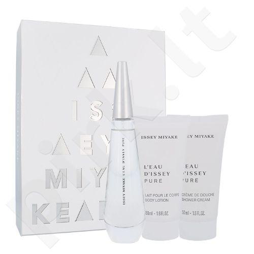 Issey Miyake L´Eau D´Issey Pure rinkinys moterims, (EDP 50 ml + kūno losjonas 50 ml + dušo kremas 50 ml)