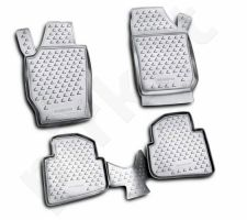Guminiai kilimėliai 3D SKODA Roomster 2006-2015, 4 pcs. /L57008G /gray