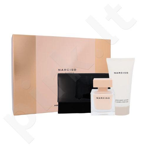 Narciso Rodriguez Narciso Poudree rinkinys moterims, (EDP 50 ml + kūno losjonas 75 ml + kosmetikos krepšys)