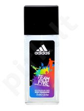 Adidas Team Five, dezodorantas vyrams, 75ml