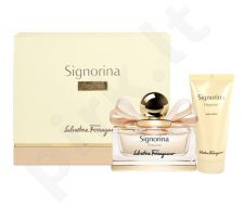 Salvatore Ferragamo Signorina Eleganza rinkinys moterims, (EDP 50ml + 100ml kūno losjonas)